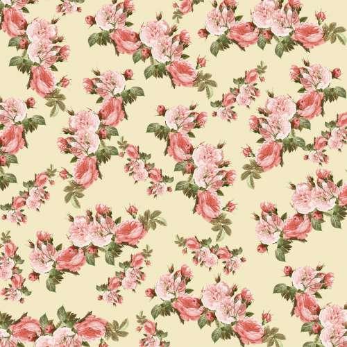 Roses Floral Wallpaper Pink