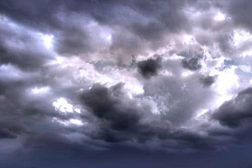 Clouds Sky Sunset Heart