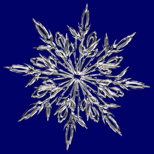 Blue Crystal Snowflake
