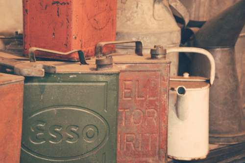 Vintage Fuel Containers