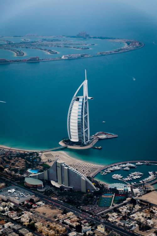 Hotel Luxury landmark aerial photography sky artificial island