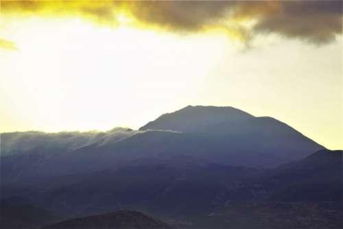 morning dawn mountain clouds sunrise