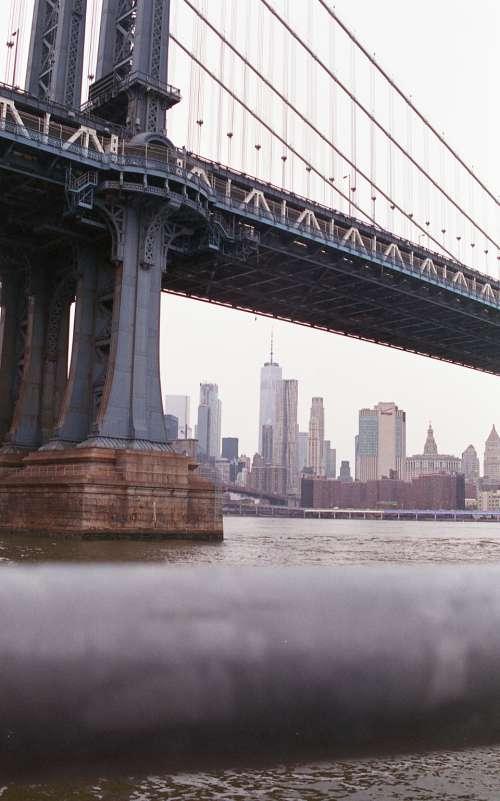 bridge water sky suspension travel