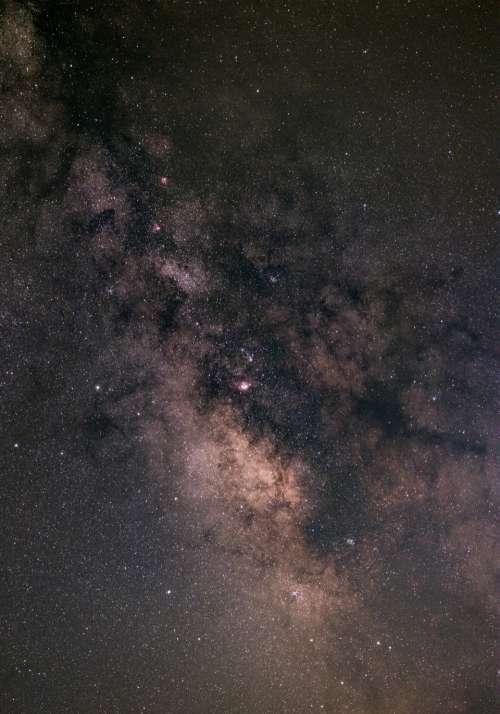 night starry sky milky way galaxy
