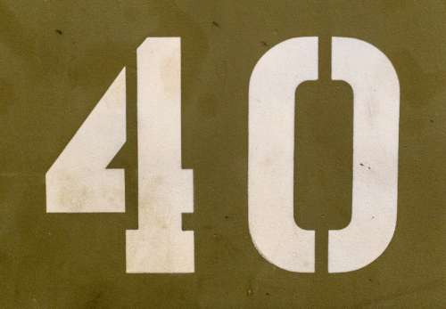 number abstract transport stenciled military