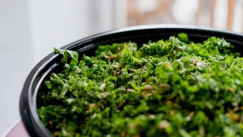 kale salad food plate diet