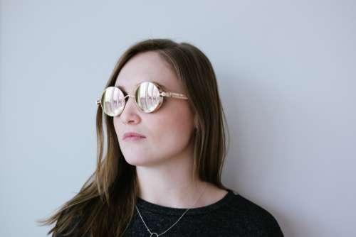 woman glasses fashion hair girl