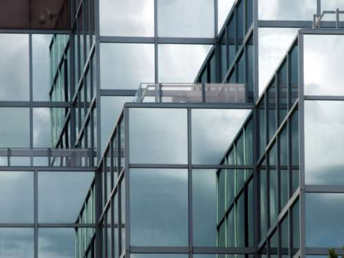 glass wall building architecture city