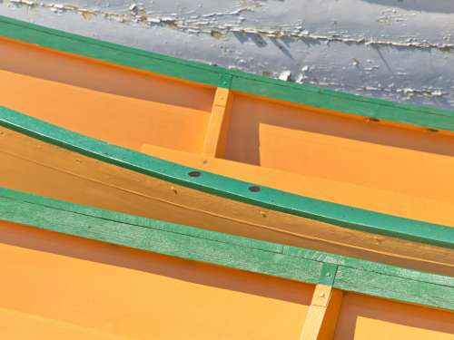 color boat abstract wooden dory