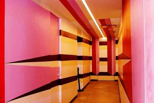 architecture abstract building hallway design