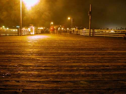 pier night sky beach motion