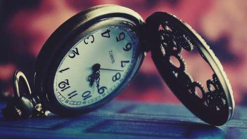 time pocket watch object macro