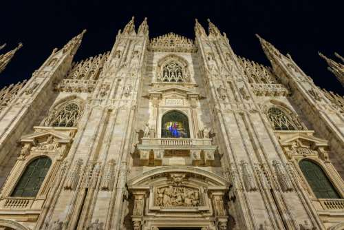 Perspective View of Duomo Milano
