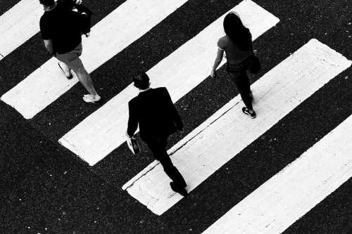Black And White Crosswalk Photo