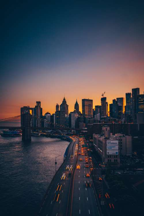 New York Skyline At Dusk Photo