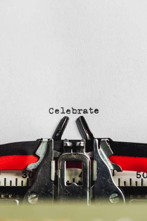 Celebration Typewriter Photo