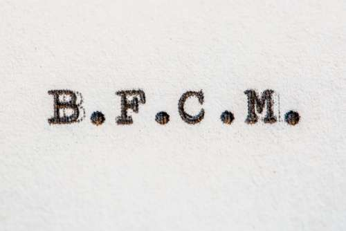 BFCM Typed On White Paper Photo