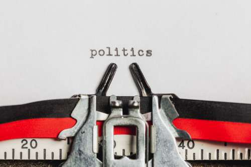 Politics On A Typewriter Machine Photo