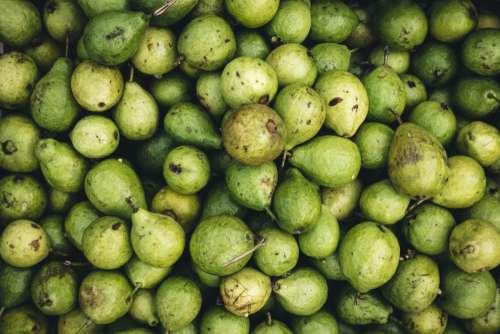 Full frame of pears
