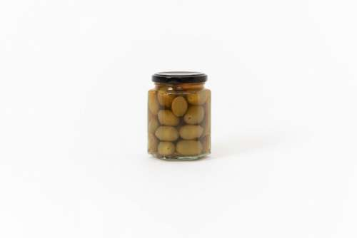 Canned Olives In A Glass Jar