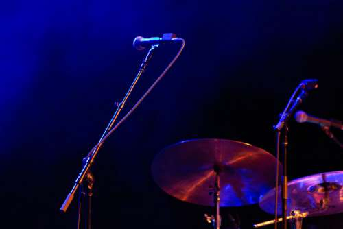 Microphone Drums Stage Free Photo