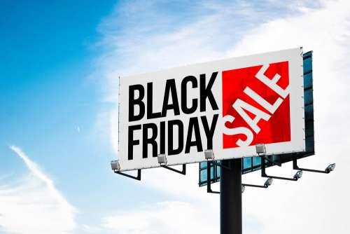Black Friday Shopping Sale Billboard Free Photo