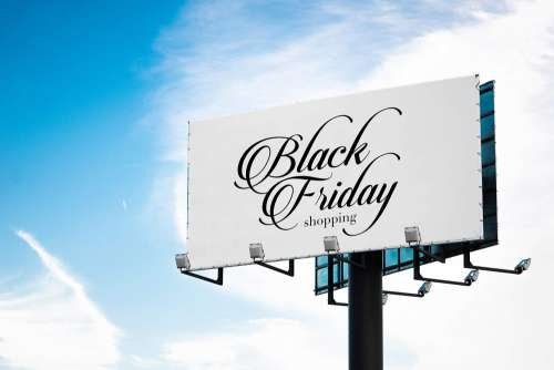 Black Friday Luxury Shopping Billboard Free Photo