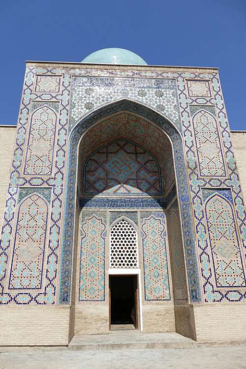 Uzbekistan Samarkand Mosque Central Asia Mausoleum