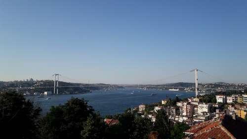 Bosphorus Bridge Bridge Istanbul Turkey Throat