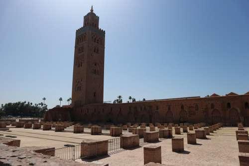 Mosque Kutubía Marrakech Morocco Moroccan Islam