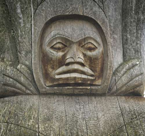 Totem Pole Detail Aboriginal Canada Carving Symbol