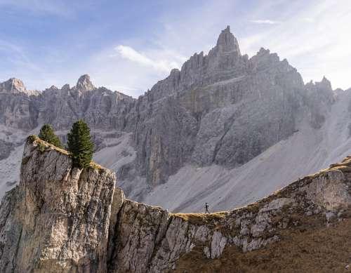 Walk Trekking Man Only Nature Mountain Landscape