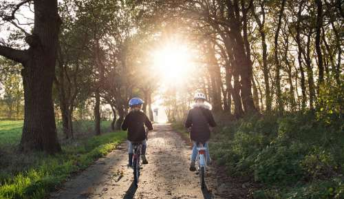 Girls Bicycle Helmets Safety Sunny Sunset