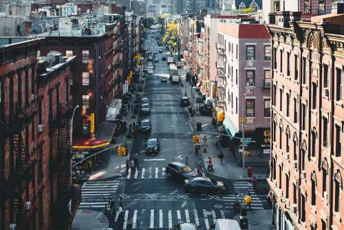 Chinatown Streets New York America Usa Nyc Autos