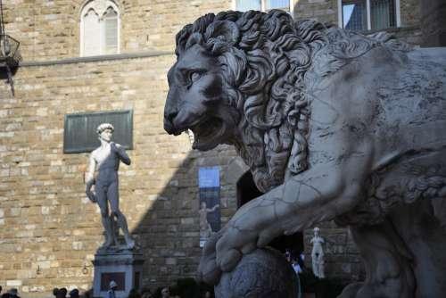 Piazza Della Signoria Florence Italy David