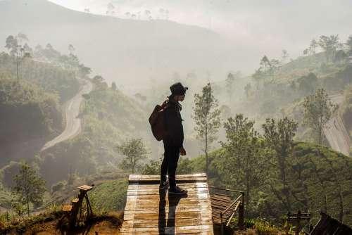 Bandung Indonesia Sunrise Landscape Nature Green