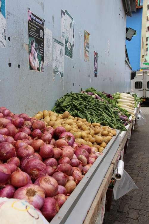 Vegetables Little India Singapore Vegetable Stall