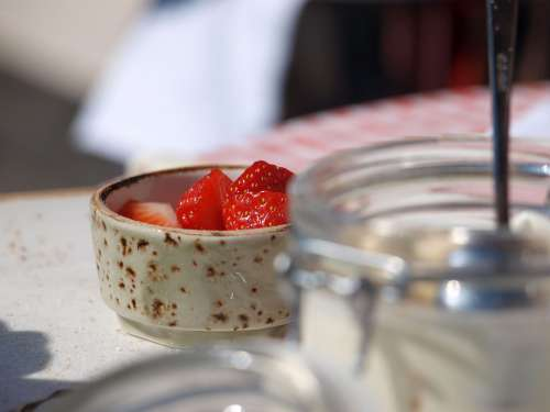 Strawberry Dessert Food Strawberries Fresh Red