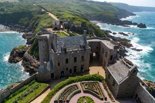 Brittany France Castle Fort Lath Ocean Fortress