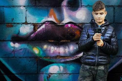 Young People Grafitti Gopro Film Digital Cool