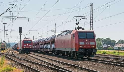 Freight Train Car Train Overhaul Main Line Siding