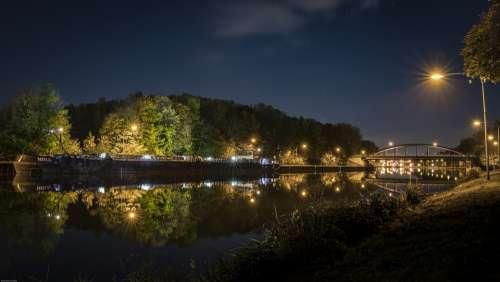 Channel Oberhausen Ruhr Area Water Long Exposure