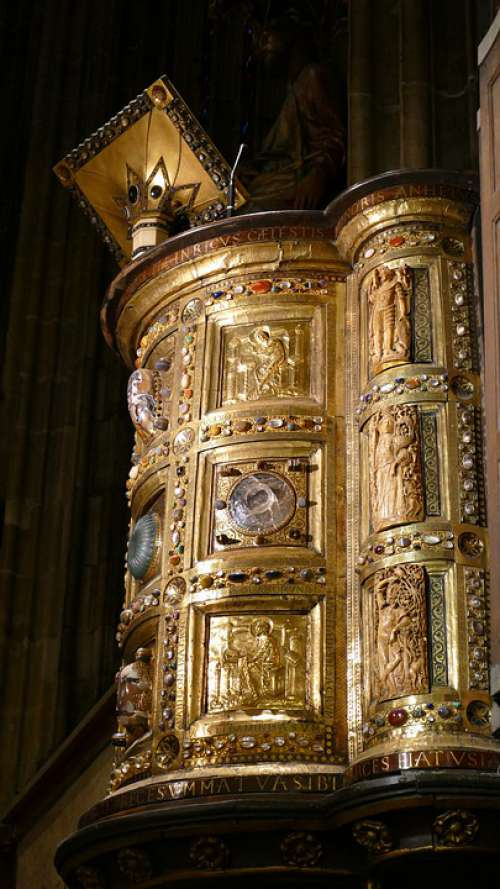 Pulpit Church Aachen Cathedral