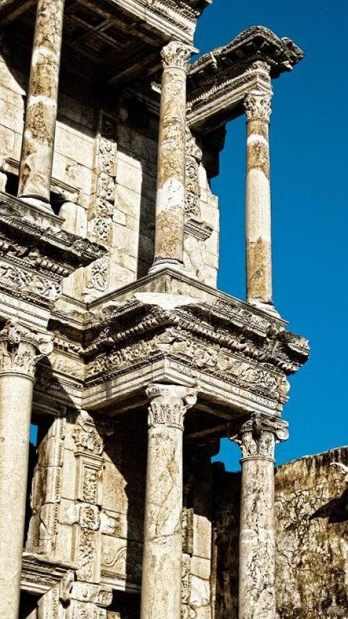 Ruin Antique Architecture Ephesus World Heritage