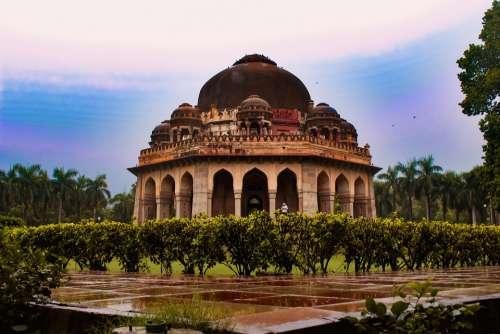 Park Outdoor Ancient Delhi Landscape Nature