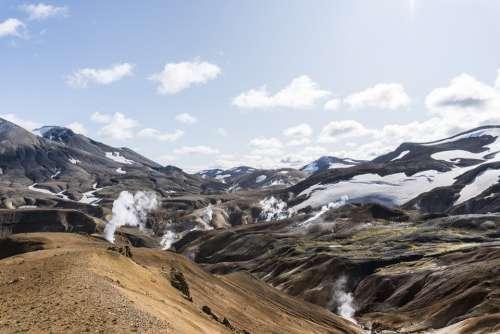 Iceland Highlands Landscape Mountains