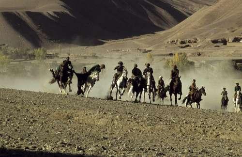 Afganisthan Buzkashi Reiter Mountain Country