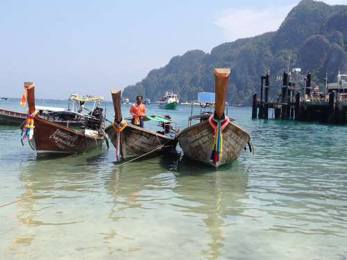 Boats Thailand Blue Water