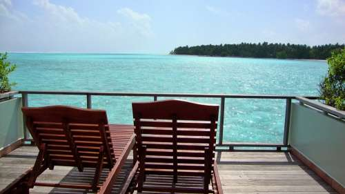 Maldives Sea Beach Chair Island Resort Holiday