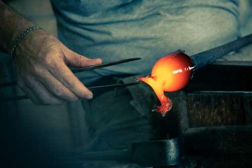 Making Glass Horse
